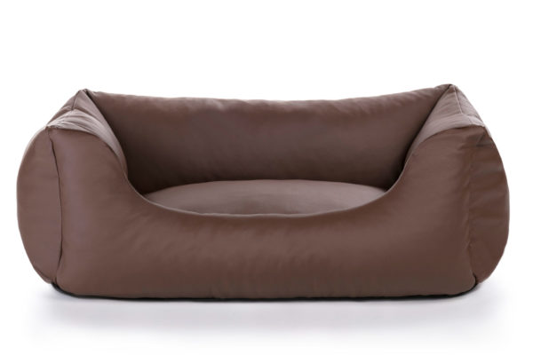 Chic Vegan Leather Chaise