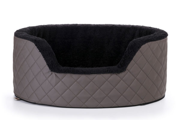 Wikopet pet bed- Opulent Quilted Vegan Leather Bed